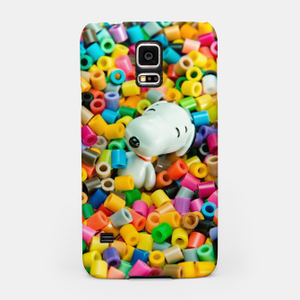 Snoopy Beaded Bathtub Samsung Case Bild der Miniatur