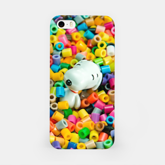 Snoopy Beaded Bathtub iPhone Case obraz miniatury