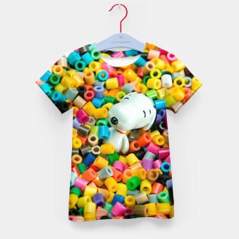 Thumbnail image of Snoopy Beaded Bathtub Kid's t-shirt, Live Heroes
