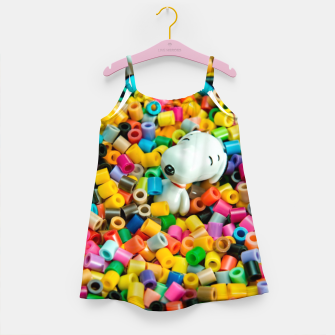 Snoopy Beaded Bathtub Girl's dress obraz miniatury