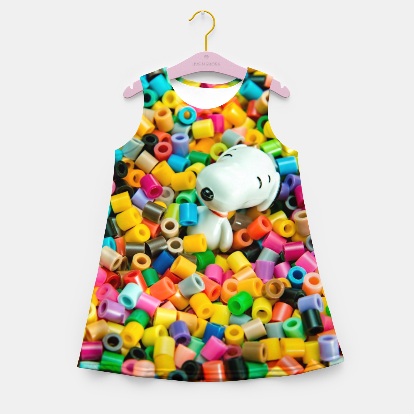 Zdjęcie Snoopy Beaded Bathtub Girl's summer dress - Live Heroes