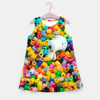 Miniatur Snoopy Beaded Bathtub Girl's summer dress, Live Heroes