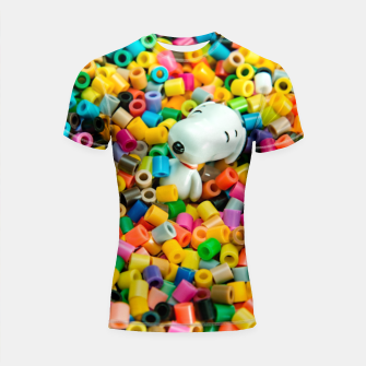Thumbnail image of Snoopy Beaded Bathtub Shortsleeve rashguard, Live Heroes