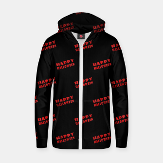 Thumbnail image of Happy Halloween Print Pattern Zip up hoodie, Live Heroes