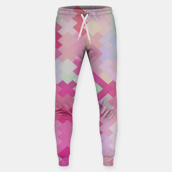 Thumbnail image of geometric square pixel pattern abstract in pink Sweatpants, Live Heroes