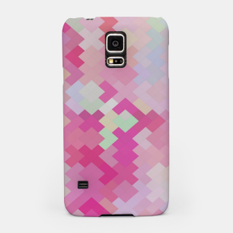Thumbnail image of geometric square pixel pattern abstract in pink Samsung Case, Live Heroes