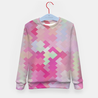 Thumbnail image of geometric square pixel pattern abstract in pink Kid's sweater, Live Heroes