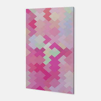 Thumbnail image of geometric square pixel pattern abstract in pink Canvas, Live Heroes