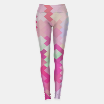 Thumbnail image of geometric square pixel pattern abstract in pink Leggings, Live Heroes