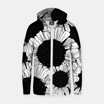 Thumbnail image of Star filled flowers Zip up hoodie, Live Heroes