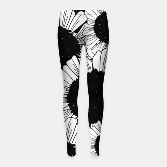 Thumbnail image of Star filled flowers Girl's leggings, Live Heroes