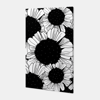 Star filled flowers Canvas miniature