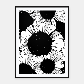 Thumbnail image of Star filled flowers Framed poster, Live Heroes
