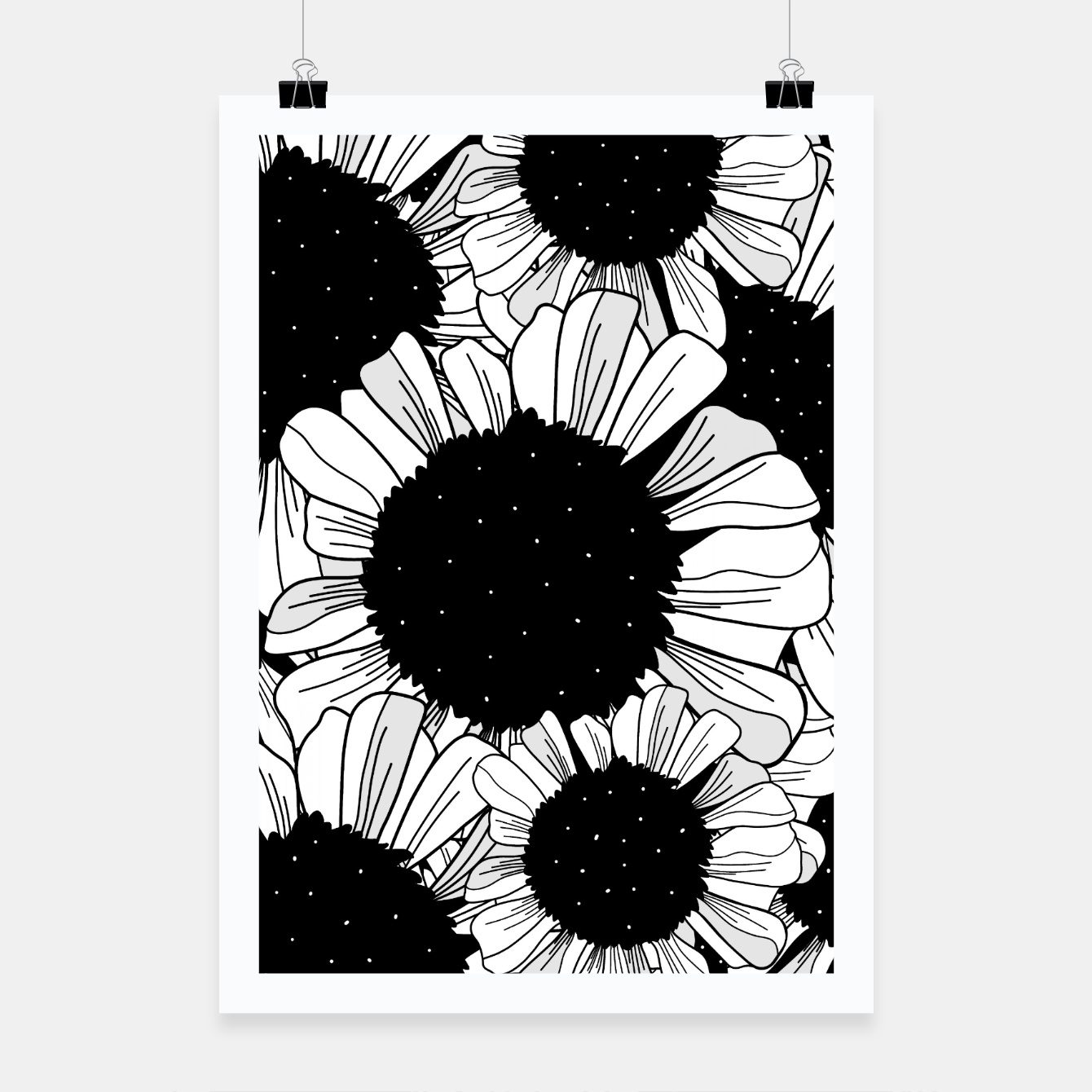 Image de Star filled flowers Poster - Live Heroes