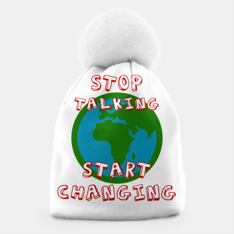 Miniatur Friday For Future Shirt - Stop Talking Start Changing - Demo T-Shirt - Klimawandel Mütze, Live Heroes