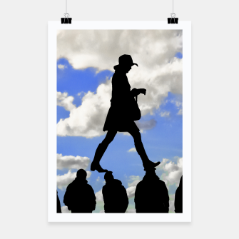 Miniatur Radical Feminism Concept Illustration Poster, Live Heroes