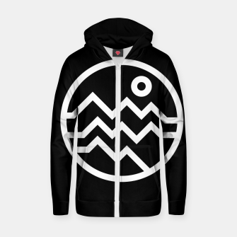 Thumbnail image of Mountain Bold Zip up hoodie, Live Heroes
