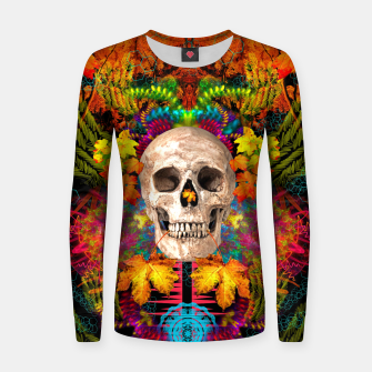 Thumbnail image of Harvest Skull 1 Women sweater, Live Heroes