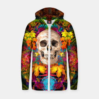 Thumbnail image of Harvest Skull 1 Zip up hoodie, Live Heroes