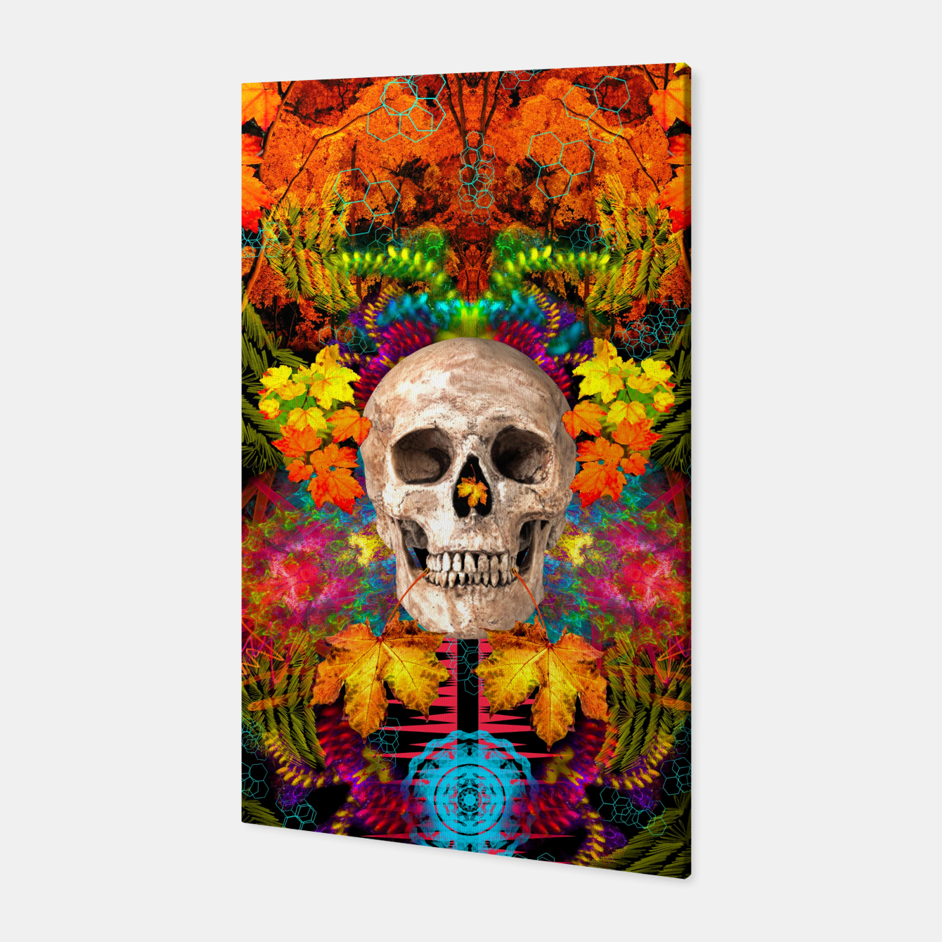 Image of Harvest Skull 1 Canvas - Live Heroes