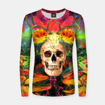 Thumbnail image of Harvest Skull 5 Women sweater, Live Heroes