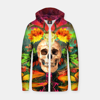 Thumbnail image of Harvest Skull 5 Zip up hoodie, Live Heroes