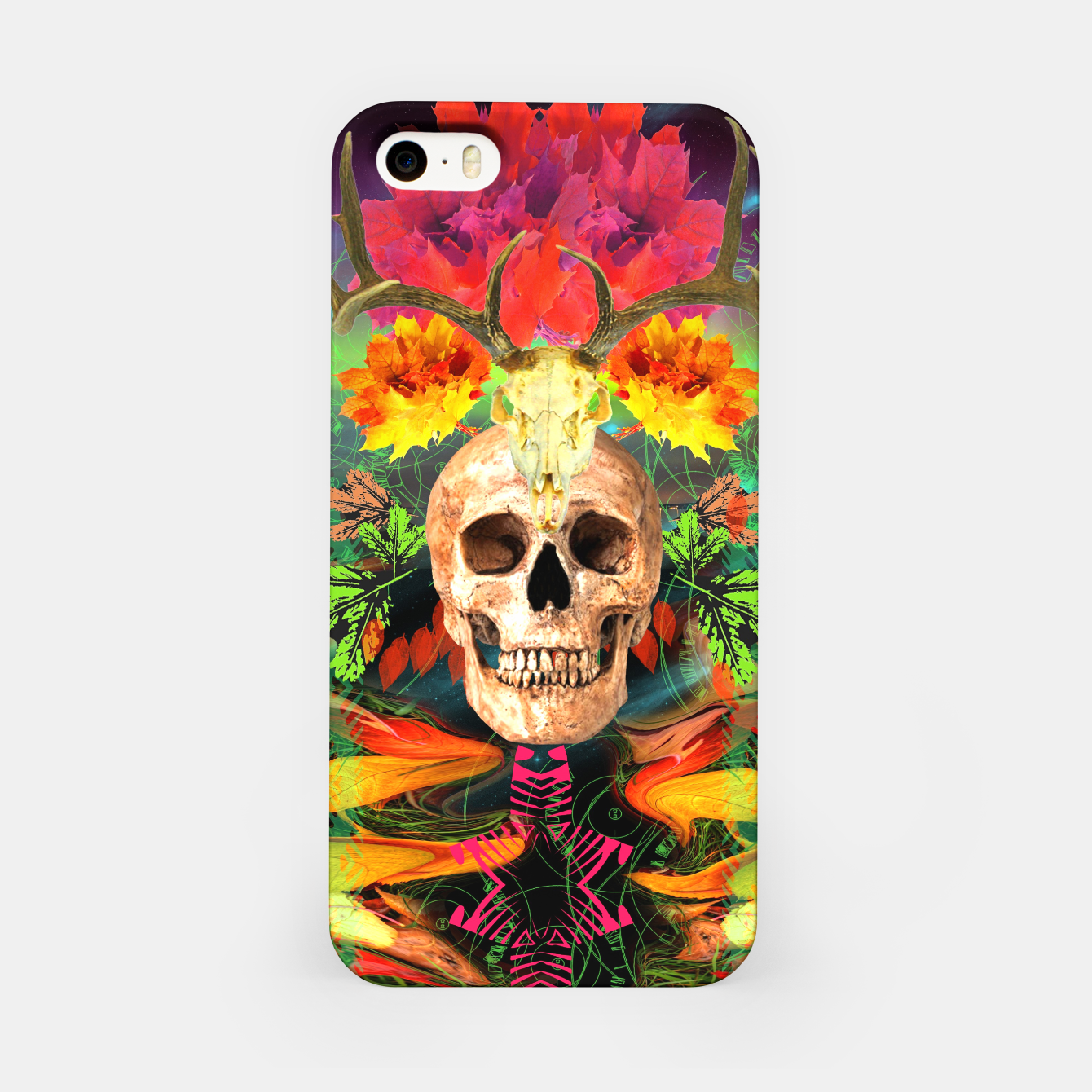 Image of Harvest Skull 5 iPhone Case - Live Heroes
