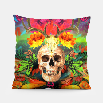 Thumbnail image of Harvest Skull 5 Pillow, Live Heroes