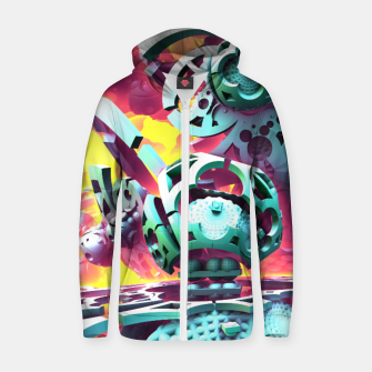Thumbnail image of Slick Zip up hoodie, Live Heroes