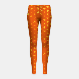 Miniature de image de Aries Zodiac Sign Pattern yo Girl's leggings, Live Heroes