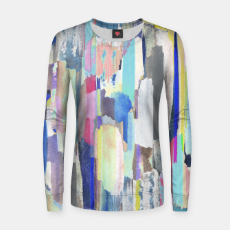 Colorful brushstrokes Women sweater Bild der Miniatur