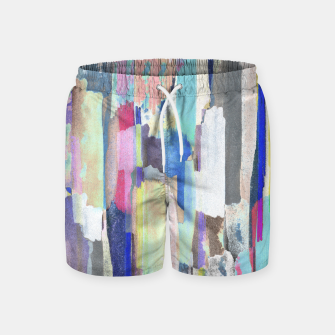 Colorful brushstrokes Swim Shorts thumbnail image