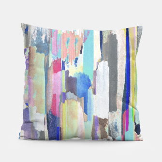 Colorful brushstrokes Pillow thumbnail image