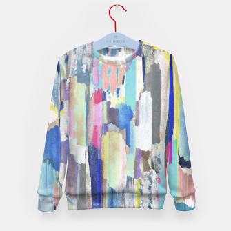 Colorful brushstrokes Kid's sweater thumbnail image