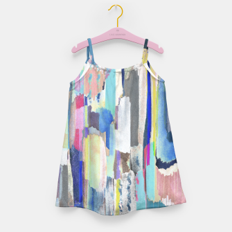 Colorful brushstrokes Girl's dress thumbnail image