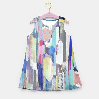 Colorful brushstrokes Girl's summer dress thumbnail image