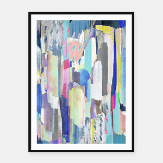Colorful brushstrokes Framed poster Bild der Miniatur