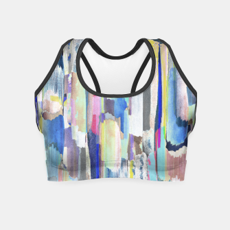 Colorful brushstrokes Crop Top thumbnail image