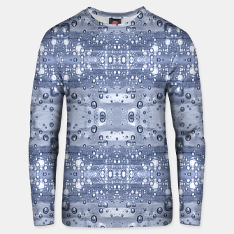 Miniatur Drop Water Collage Print Pattern Unisex sweater, Live Heroes