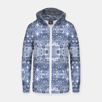 Miniatur Drop Water Collage Print Pattern Zip up hoodie, Live Heroes