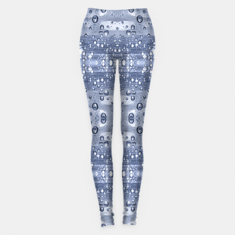 Miniatur Drop Water Collage Print Pattern Leggings, Live Heroes
