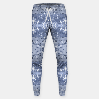 Miniatur Drop Water Collage Print Pattern Sweatpants, Live Heroes