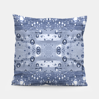 Miniatur Drop Water Collage Print Pattern Pillow, Live Heroes