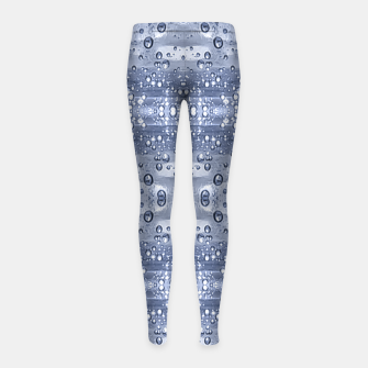 Miniatur Drop Water Collage Print Pattern Girl's leggings, Live Heroes