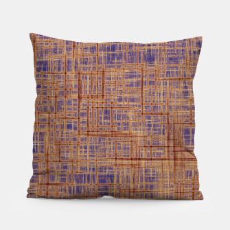 Thumbnail image of geometric square pattern drawing in purple and brown Pillow, Live Heroes