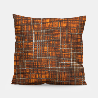Thumbnail image of geometric square pattern drawing in orange brown Pillow, Live Heroes