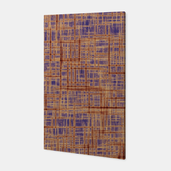Thumbnail image of geometric square pattern drawing in purple and brown Canvas, Live Heroes