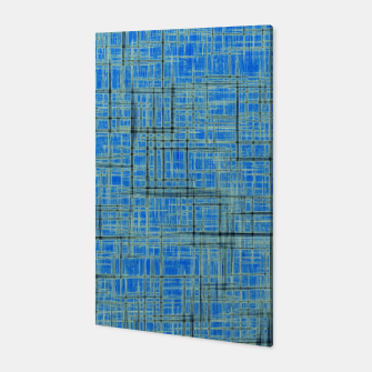 Thumbnail image of geometric square pattern drawing in blue Canvas, Live Heroes