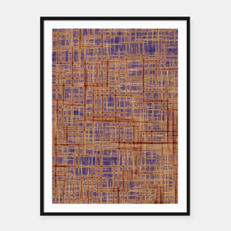 Thumbnail image of geometric square pattern drawing in purple and brown Framed poster, Live Heroes