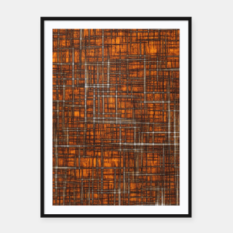 Thumbnail image of geometric square pattern drawing in orange brown Framed poster, Live Heroes